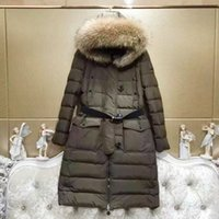 Wholesale Girl Army Jacket - Europe 2017 winter jacket girls long big fur coat thick slim star with a tide
