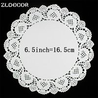 Wholesale Card Making Patterns - Wholesale- ZLDECOR 6.5Inch Vintage White Hollowed Lace Pattern Paper Crafts for DIY Scrapbooking Card Making Wedding Decoration