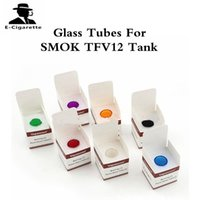 Wholesale Shipping Options - Glass Tubes for SMOK TFV12 Tank Different Colors for Options DHL Free Shipping