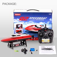 Wholesale Propellers For Boats - Wholesale- Original Syma RC Boat Q2 2.4G 2CH Remote Control High Speed Electric RC Racing Boat Propeller Ship Mini Boat Toys For Gift
