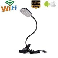 HD 1080P Wireless Wifi Desk Lamp Camera P2P Spy lâmpada de mesa Camera Support Detecção de movimento em tempo real Video View Phone App Controle remoto de lâmpada