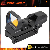 Wholesale Electro Sight - FIRE WOLF 1x22x33mm Multi 4 Reticle Electro Red Dot Sight Riflescope with Mount for 20mm Rail