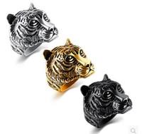 ingrosso anello di leone di 316l-Punk style Anello in acciaio inossidabile di alta qualità in acciaio inossidabile 316L con anello per gioielli moda uomo città ragazzo