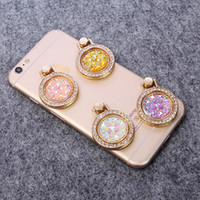Wholesale Gold Ring Purple Diamond - Luxury Glitter Rhinestone Ring Stand Holder for Samsung galaxy s8 s7 edge Bling Diamond Grip Ring Phone Support for iPhone 6s 7 8