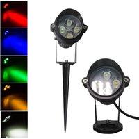 12v led bahçe spot ışıkları toptan satış-10 adet 4 W AC85-265V 12 V LED Bahçe Spike işık IP65 Su Geçirmez Projektör Yolu Peyzaj Spot Güvenlik Güvenlik Işık Açık LED Sel Lamba