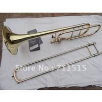 trombón al por mayor-Al por mayor-Bach Laca de oro 42BO senior sandhi Tenor Trombón Importaciones 95 Aleación de cobre instrumento musical de latón Bb Trombón tuba