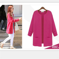 Wholesale Cheap New Wholesale Computers - Wholesale- Free shipping cheap Hot Spring and Autumn new version of loose big size long section long-sleeved knit cardigan sweater female