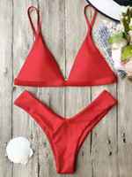 Wholesale Thongs Adjustable Waist - FDXAOQY 2017 NEW Women Adjustable Strap push up Sexy Bikinis set Brazilian Styles Swimwear Swimsuit Swimming suit Thong Maillot de bain