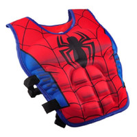 Wholesale Cartoon Life - Cartoon Kids Life Jacket Vest Superman Batman Spiderman Swimming Jacket Children Fishing Superhero Swimming Pool Accessories Free Shipping