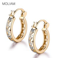 Wholesale High Quality Fashion Jewellery - Wholesale- MOLIAM Small Earrings 2017 Fashion Classic Hollow Out Hoop Earring For Women High Quality Brinco Earings Ladies Jewellery MLE400