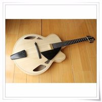 """Wholesale Hollow Guitar Case - NEW BRAND AAA-Hand-carved Archtop 17"""" Jazz Guitar With Case"""