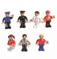 Wholesale Wooden Toy Joints - Wooden Toys Fabric Joint Mini Dolls Early Childhood Education Toys Captain Policeman Doctor Fireman Girl Father Mother Pretend Play Family