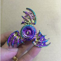 Rainbow EDC Fidget Spinner Poisson volant Eagle Eye Magic dragon wings Hand Spinner 2 3 ailes Zinc Alloy Metal Tri-spinner avec package de vente au détail