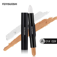 Wholesale Whitening Pen Light - Concealer High Light Shadow Double Head Repair Capacity Concealment Concealments Highlight Pen Silhouette Face Repair Capacitys