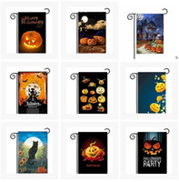 Polyester owl decorations - Halloween Garden Flags Pumpkin Ghost Owl Bat Party Home Decor Outdoor Hanging Polyester Garden Flags Halloween Decorations cm colors