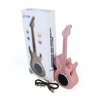 Wholesale Mic For Guitar - 2017 New mini guitar bluetooth speaker TF USB Wireless Portable Music Sound Box Subwoofer Loudspeakers with Mic for iOS Android