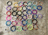 Wholesale bag strand - 56 colors silicone balance bracelet S M L XL silicone bands with tag opp bag R019
