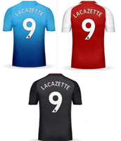 Wholesale Top Green Soccer Jerseys - Discount cheap 17-18 new 9 Lacazette 7 Alexis Thai Quality Soccer Jerseys tops ,various 24 Bellerin 8 Ramsey 11 Ozil,Dropshipping Accepted