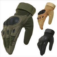 Wholesale Army Military Hard Knuckle Tactical Combat Gloves Motorcycle Motorbike ATV Riding Full Finger Gloves for Men Airsoft Paintball Sport Biker