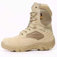 Wholesale Tactical Boots Wholesale - 2016 Black Winter Mens Outdoor Delta Tactical Military Boots Special Forces High-help Desert Botas Safety Working Hiking Shoes 39-45