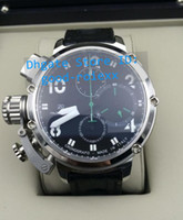 Wholesale Eta Big Watches - Top Quality Men's Chronograph Mechanical Watch Mens Eta 7750 Valjoux Calf Leather Date Men Sports Swiss Chrono Dive Crystal Big Watches