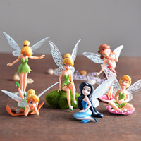 Wholesale Fairy Cup Cakes - Fairy Garden Miniatures Cup cake Topper Flower Novelty Cake Toppers Birthday Party Favors Decor DIY Cake Decorating