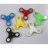 Wholesale Multicolor Bags - Cheapest HandSpinner Fingertips Spiral Fingers Fidget Tri Spinner EDC Hand Spinner Acrylic Plastic Fidgets Toys Gyro Toys With OPP Bag