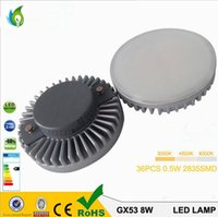 Wholesale Gx53 Lamps - 7W 8W GX53 LED Spot Lamp Replacement 80W Gx53 Halogen Light Die casting Aluminum, GX53 LED Down lamp