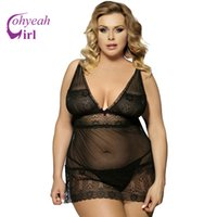 Wholesale Babydoll Plus - RW80014 Hot sale plus size lingerie for ladies multi colors see through women sleepwear sexy style sheer mesh babydoll