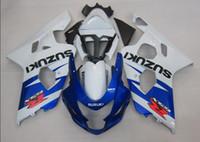 Wholesale Parts For Suzuki - 3 gifts New ABS motorcycle parts Fairing Kit Fit For Suzuki GSXR600 GSXR750 2004 2005 600 750 04 05 K4 gsxr bodywork set best white vs blue