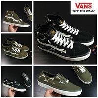 Wholesale Top High Cut Shoe Brands - VANS X Wtaps Canvas Shoes Olive Green High Tops SK8-Hi Low Cut Authentic Originasl  Brand Women Mens VN000UDDKBC Skateboarding Shoes
