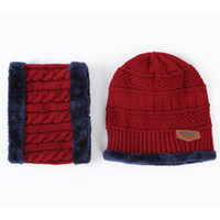 07bf9776c8f9 Bonnets d hiver Balaclava Tricoté chapeau écharpe capuchon cache-cou Hiver  Chapeaux Pour Hommes femmes skullies bonnets chaud Polaire chapeau de papa