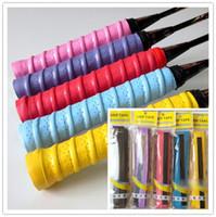 bant bandı toptan satış-Badminton Raket OverGrip Balıkçılık Tenis Tırtıklı Ter Bandı kavrama Tenis Raketi Overgrips kaymaz Ter bandı Absorbe Sarar ücretsiz gemi