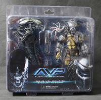 Wholesale Neca Alien Predator - Hot Sci-Fi Battle Damaged Grid Alien VS Celtic Predator Alien vs Predato AVP Rivalry Reborn NECA Action Figure