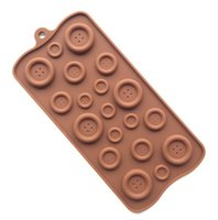 Wholesale Silicone Mold Buttons - Button Shape Silicone Mold Jelly\Soap\Chocolate mould, DIY Baking Cake Decorating Tools Kitchen Accessories