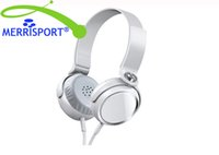 Auricolari Over-Ear per giochi musicali, MERRISPORT Cuffie over-Ear girevoli con microfono, Cuffie Over-Ear per iPhone, Smartphone Android Bianco