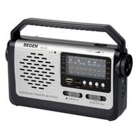 degen radio usb achat en gros de-Gros-Meilleur prix original Degen DE320 Radio FM MW SW1-2 Poche Full Band Radio Récepteur USB Carte Lecteur MP3 Multiband Radio Y4299A