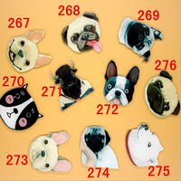 Atacado- 1 PC Cartoon Acrílico Dog Brooch Badges Engraçado Pug Puppy Brooch Decoração Backpack Broches Decorativas Pin na roupa Bag Decor