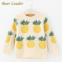 Wholesale Autum Girl - Bear Leader Girls Sweaters 2017 New Autum Pullover Children Sweaters Pineapple Jacquard Long Sleeve Outerwear Kids Knitwear 3-7Y