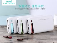 xiaomi 2a free shipping achat en gros de-Hot Sale Top Fashion Xiaomi DC5V 1A / 2A 16000Mah Shell ABS + PC Matériel LED Mini Portable Power Bank Package pour iphone Livraison gratuite