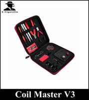 Wholesale Master Diy - Newest coil master V3 DIY tool bag coil winder Coil Master Tool Kit 3.0 Clone For RDA RBA Atomizer ecigs