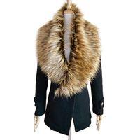Wholesale Elegant Winter Scarf Woman - Wholesale-New brand 2015 Elegant Woman False Clothing Scarf Winter Faux Fur Collar Shawl Stole Women's collar Scarves