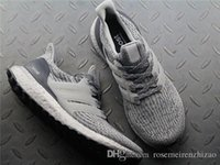 Wholesale Mens Gray Boots - Ultra Boost 3.0 Gray Silver BA8143 Mens and Womens Sneakers, Real Boost 350 V2 Zebra Oreo Black White Running Shoes Size 36-45