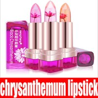 Wholesale Jelly Sweets Wholesalers - 2017 Temperature Change Color Lip Balm 3 Color Waterproof Long-lasting Sweet Transparent Jelly Flower Pink Moisturizer Lipstick