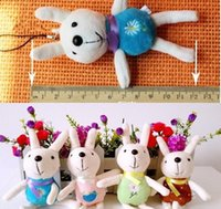 Wholesale Metoo Phone - Wholesale-10PCS SIZE Smallest 12CM Metoo Rabbit Plush Stuffed TOY DOLL Phone String BAG Pendant Lanyard DOLL Wedding Bouquet TOY DOLL