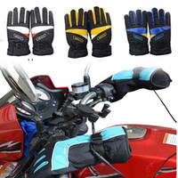 Wholesale Winter Motorcycle Warm Gloves Electric Warming Handlebar Heating Gloves V Motorcycle Scooter waterproof windproof Glove