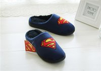 Wholesale Wholesale Fashionable Heels - 2017 Unisex Superman fashion slippers indoor shoes sandals sliding wear fashionable men and women 2 color good quality