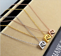 Wholesale Double Chain Necklace Gold - Explosive wild fashion double round buckle steel gold necklace female trend tide female accessories rose gold jewelry