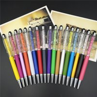 Wholesale Stylus Touch Pen Swarovski - Crystal 2 in 1 Swarovski Colorful Crystal Capacitive Touch Stylus Ball Pen For ipad iphone Samsung with DHL