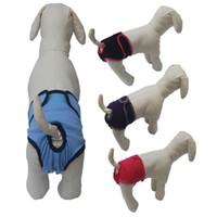 ingrosso pannolini per cani da compagnia-12mr3 Durevole Pet Pannolini per cani Cani Pannolino Cambiare Comodi Pantaloni Moda Sanitaria Pet Protezione Abbigliamento Morbido Comodo Vendita Calda